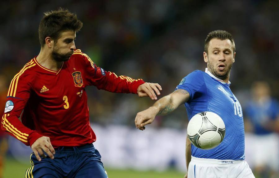 Antonio Cassano (à droite) garde espoir pour la sélection italienne.