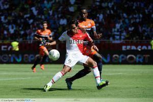 Falcao / Teddy Mezague - 18.08.2013 - Monaco / Montpellier - 2eme journee de Ligue 1 -