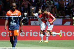 Falcao / Yannick Carrasco - 18.08.2013 - Monaco / Montpellier - 2eme journee de Ligue 1 -