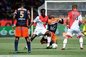 Ndinga Delvin / Sanson Morgan - 18.08.2013 - Monaco / Montpellier - 2eme journee de Ligue 1 -