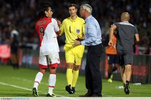Radamel Falcao / Claudio Ranieri - 10.08.2013 - Bordeaux / Monaco - 1er journee de Ligue 1