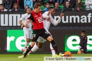 Anders KONRADSEN / Anthony MARTIAL  - 12.04.2014 - Rennes / Monaco - 33eme journee de Ligue 1