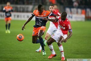 M Baye NIANG / Eric ABIDAL - 10.01.2014 - Montpellier / Monaco - 20eme journee de Ligue 1 -
