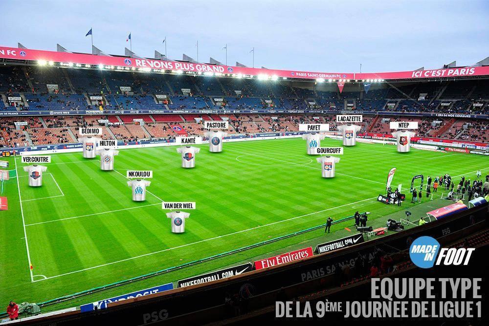 L'équipe type de la neuvième journée de Ligue 1