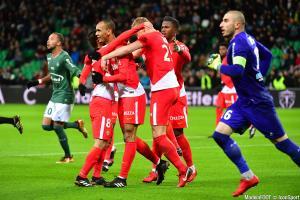 La joie des Monégasques face aux Verts en 2017.