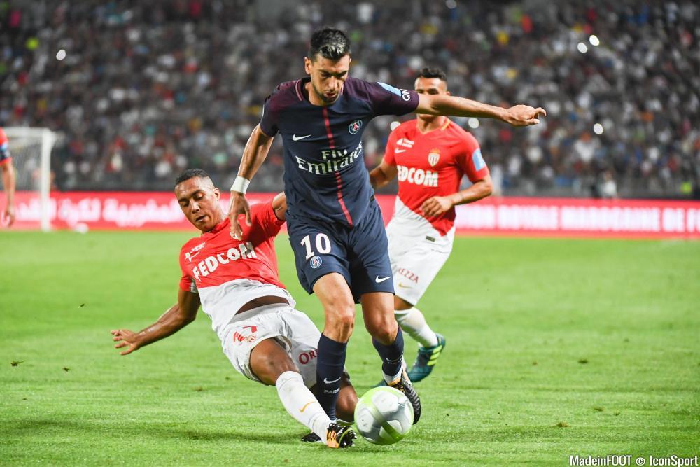 Javier Pastore, sous les couleurs du PSG, face à l'ASM.