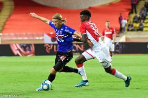 Benoît Badiashile, le défenseur central de l'AS Monaco.
