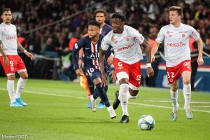 Axel Disasi, le défenseur central du Stade de Reims.