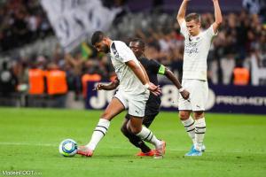 Youssef Aït Bennasser, le milieu de terrain de l'AS Monaco, ici sous les couleurs des Girondins de Bordeaux.