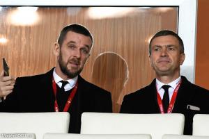 Nicolas Holveck, à gauche, va devenir le nouveau président rennais.