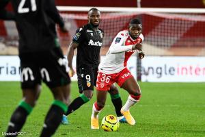 Eliot Matazo sous les couleurs de l'AS Monaco