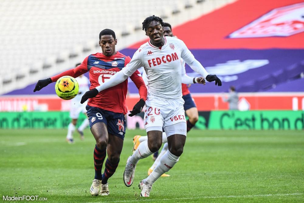 Axel Disasi et l'AS Monaco ont chuté face au Lille OSC (2-1), ce dimanche après-midi en Ligue 1.