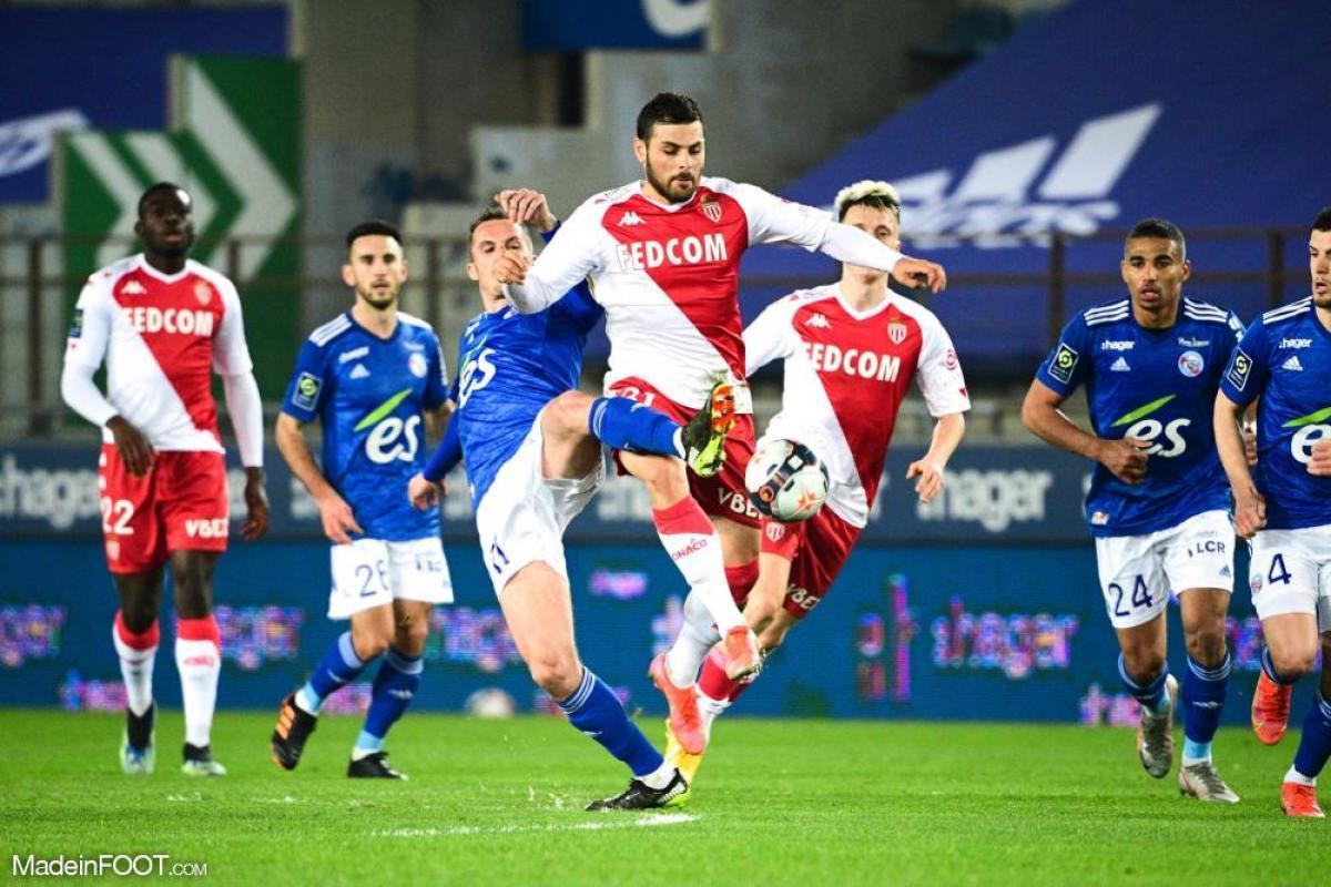 L'AS Monaco s'est inclinée sur la pelouse du RC Strasbourg Alsace (1-0), ce mercredi soir en Ligue 1.