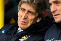 Manchester City manager Manuel Pellegrini during the Barclays Premier League match at Carrow Road, Norwich.