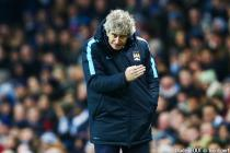 Manchester City manager Manuel Pellegrini issues instructions during the UEFA Champions League Round of 16 Second Leg match between Manchester City and Dynamo Kiev played at the Etihad Stadium, Manchester on March 15th 2016